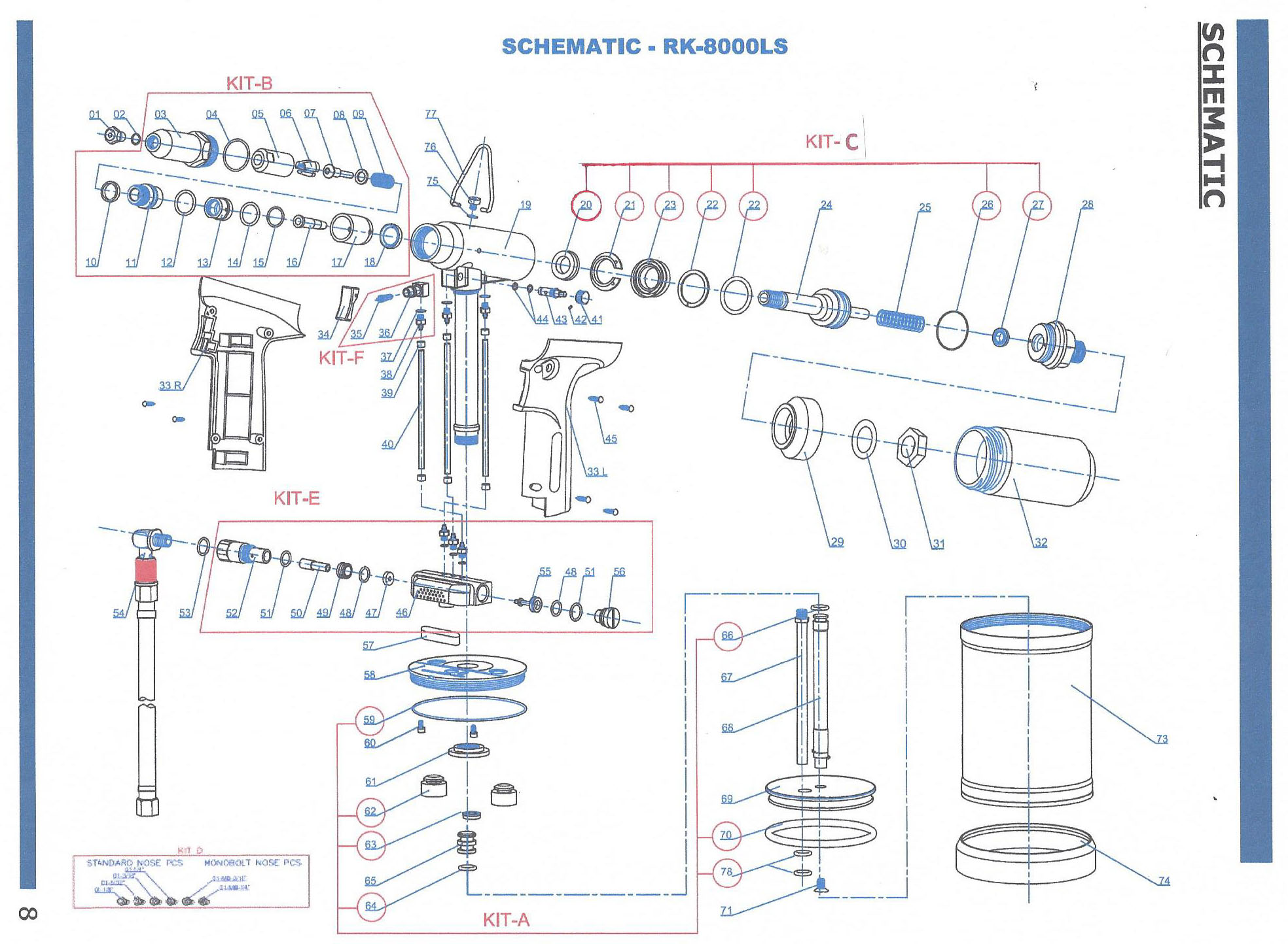 Rivet king 8000ls parts schematic