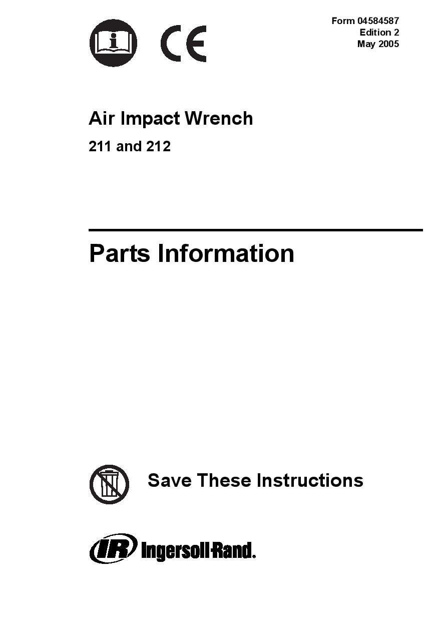 IR 212 Impact Wrench Schematic Three Day Tool