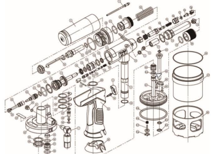 ProSet® XT1 Blind Rivet Tool - 76001 Service Manual - Parts