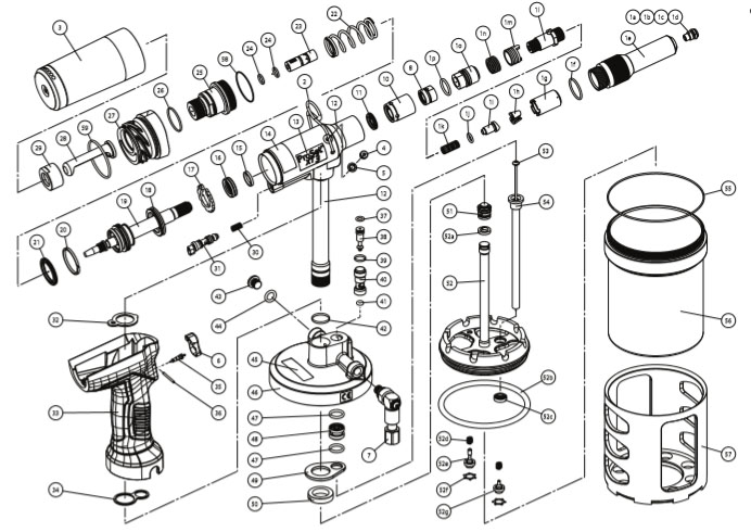 Rivet Gun Parts Diagram