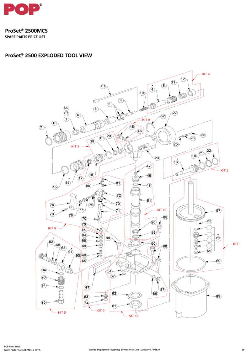 Emhart ProSet 2500 Schematic Three Day Tool