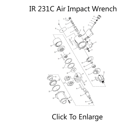 IR 231C Impact Wrench Schematic Three Day Tool