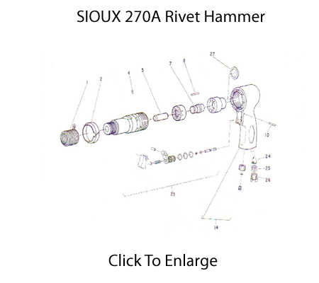 Sioux 270 Rivet Hammer Schematic Three Day Tool